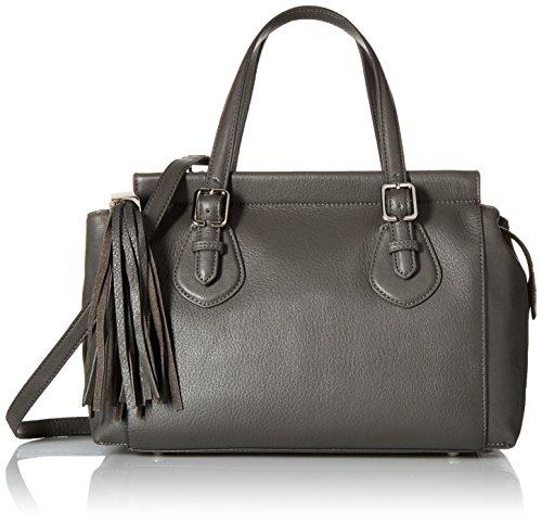 Nine West City Chic Leather Tessa Satchel Shoulder Bag Graphite/graphite One Size