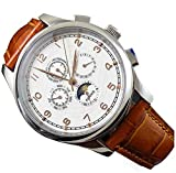Parnis Watches White Dial Gold-plated Mark Automatic Chronometer Moonphase Multifunction P111001
