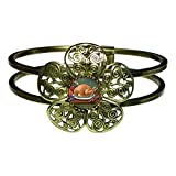 Gifts Flowers Food Best Deals - GiftJewelryShop Bronze Retro Style Thanksgiving Food Sun Flower Cuff Bangle Bracelet Fashion Jewelry