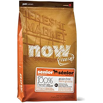 Now! Dry Dog Food, Grain Free Turkey And Duck Formula, Senior And Over-Weight, 6-Pound Bag