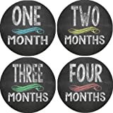 Chalkboard Monthly Baby Bodysuit Stickers