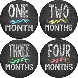 Amazon.com: Chalkboard Monthly Baby Bodysuit Stickers: Baby