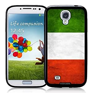 Cool Painting Flag of Italy Grunge - Protective Designer BLACK Case - Fits Samsung Galaxy S4 i9500