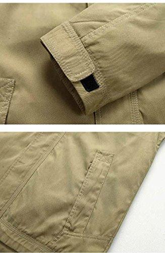 Khaki Outdoor Per Giacca Giacche App Con Invernale In Sale15830 Uomo Cotone Cappuccio Design Casual wSTOqf