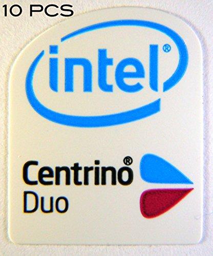 VATH 10 Pieces of Original Intel Centrino Duo Sticker 16 x 20mm [49x10]