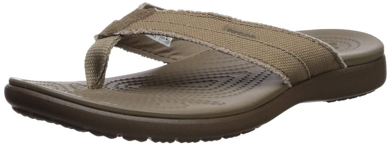 7aebcc240451 Crocs Men s Santa Cruz Canvas Flip Flop  Amazon.co.uk  Shoes   Bags