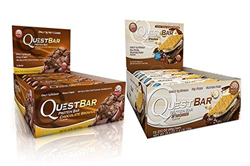 Quest Nutrition Protein Bars - Brownie + S'mores - 24 Count by Quest Nutrition