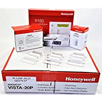Honeywell Vista 20P Hardwired Self Monitoring Kit With a 6160 Keypad, One IS335 Motion Sensor, One EVL-CG Envisalink, Three 7939WG Contacts, and a Wave2 Siren