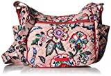 Vera Bradley womens Iconic On The Go Crossbody, Signature Cotton, Stitched Flowers, One