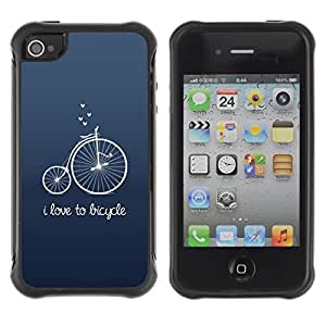 "Pulsar iFace Series Tpu silicona Carcasa Funda Case para Apple iPhone 4 / iPhone 4S , Antiguo Hipster texto Unic Azul"""