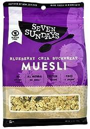 Seven Sundays Muesli Blueberry Chia Buckwheat -- 12 oz - 2 pc