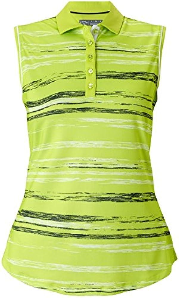 Callaway Space Dyed Stripe Polo de Golf, Mujer, Verde, XS: Amazon ...