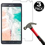 [3 Pack] Samsung Galaxy Note 4 Screen Protector Tempered Glass,Coolpow[9H Hardness][Ultra Clear][Anti Scratch][Bubble
