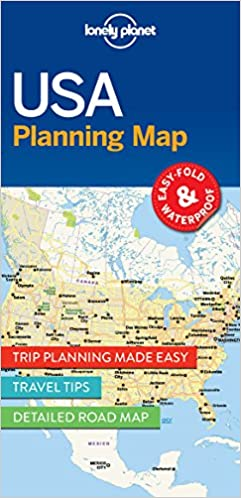 USA Planning Map Travel Guide Lonely Planet 9781786579096