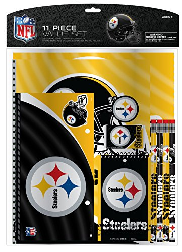 National Design NFL 11-Piece Stationery Set (Pittsburgh Steelers Spiral)