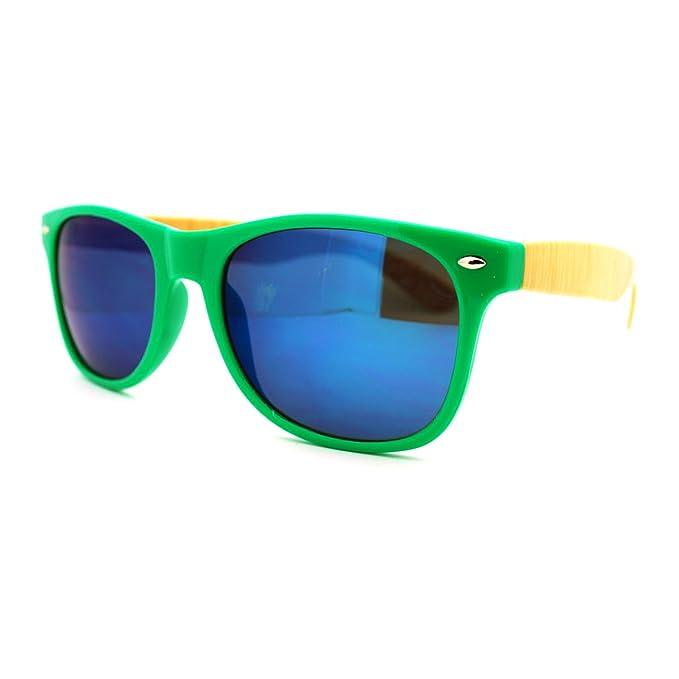 Amazon.com: Multicolor lente de espejo Wayfarer anteojos de ...