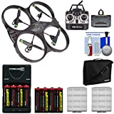 Vivitar DRC-333 Air Defender X Wi-Fi Streaming HD Video Camera Drone with 8 Batteries & Charger + Case + Kit