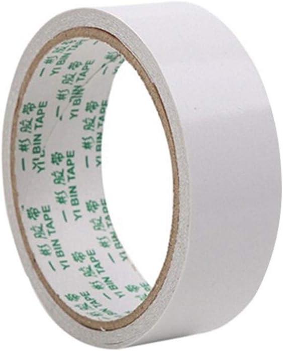 Cinta Blanca Cinta Adhesiva De Doble Cara Papel Fuerte Ultradelgada Algodón Altamente Adhesivo Cinta Adhesiva De Doble Cara 8M cinta (Color : White, Size : 8M-8mm): Amazon.es: Bricolaje y herramientas