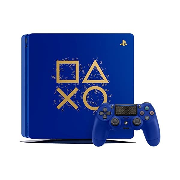 Playstation 4 Slim 2TB SSD Limited Edition Days of Play Blue Console with Controller Bundle Enhanced with Fast Solid… 2