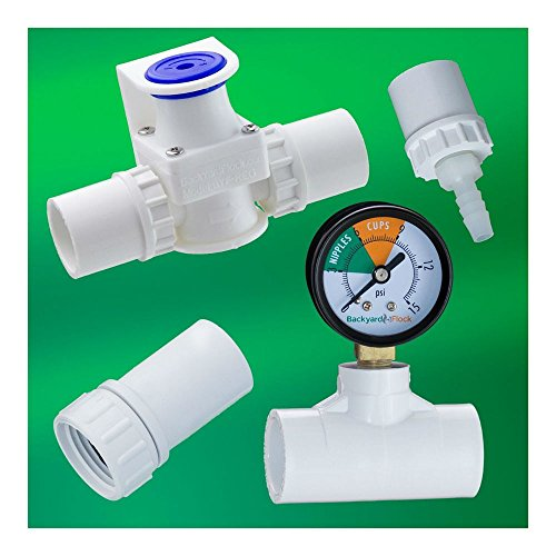 Regulator + Gauge, Hose Adpt, Barb for Chicken Cups / Nipples Watering System by Unknown