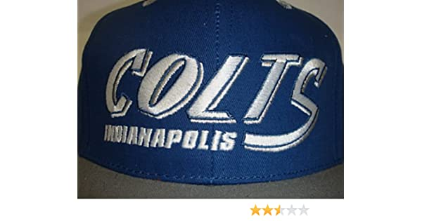 f6b3cdc9 Amazon.com : New NFL Indianapolis Colts Two Tone Vintage Snapback Flatbill  Cap / Hat : Sports Fan Baseball Caps : Sports & Outdoors
