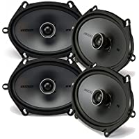 Kicker Speaker Bundle - Two pairs of Kicker 6x8 Inch KS-Series Speakers 41KSC684
