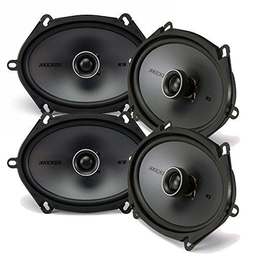 Kicker Speaker Bundle - Two pairs of Kicker 6x8 Inch KS-Series Speakers 41KSC684