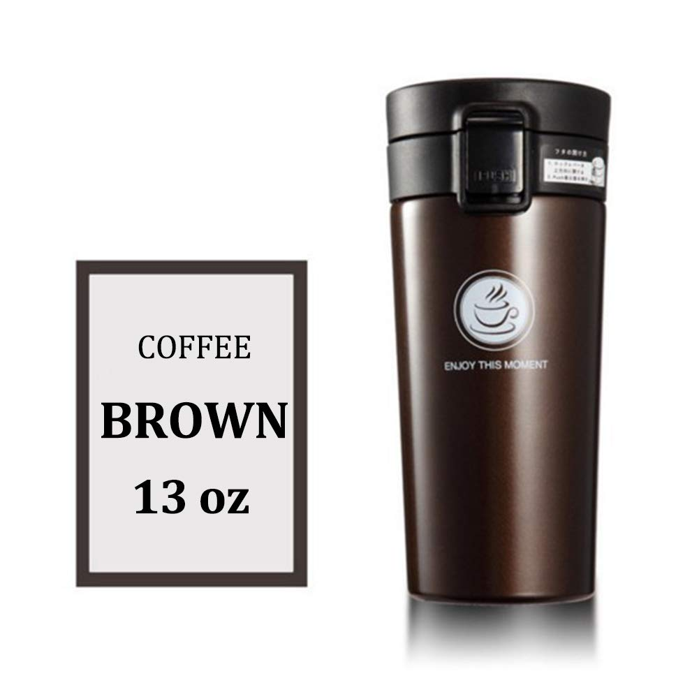 【国内発送】 Jahuite 真空断熱コーヒーカップ B07MGN95VL ブラウン 暖かいステンレス製ヨガウォーターボトル サーモスフラスコシール 漏れ防止トラベルマグ ブラウン B07MGN95VL, 十勝郡:fa7a2ec3 --- a0267596.xsph.ru