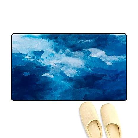 Amazon Com Antiskid Doormat Abstract Art Dark Blue