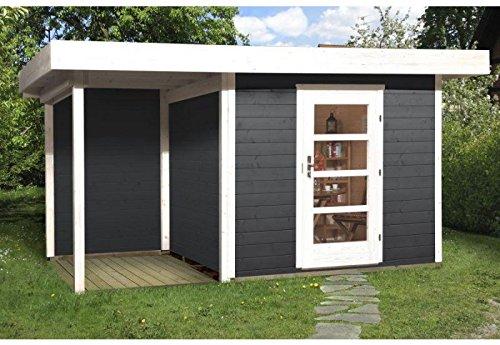 Weka Gartenhaus 172 Größe 1 anthrazit