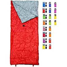 Sleeping Bag by RevalCamp. Indoor & Outdoor Use. Great for Kids, Boys, Girls, Teens & Adults. Ultralight and compact bags are perfect for hiking, backpacking & camping