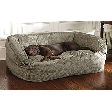 Orvis Lounger Deep Dish Dog Bed Cover / Large, Brown Tweed, Large