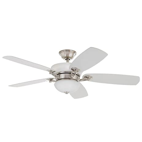 home decorators collection chardonnay 52 in indoor brushed nickel ceiling fan
