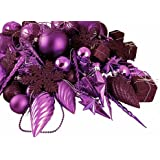Vickerman 125-Piece Ornament Set, Purple