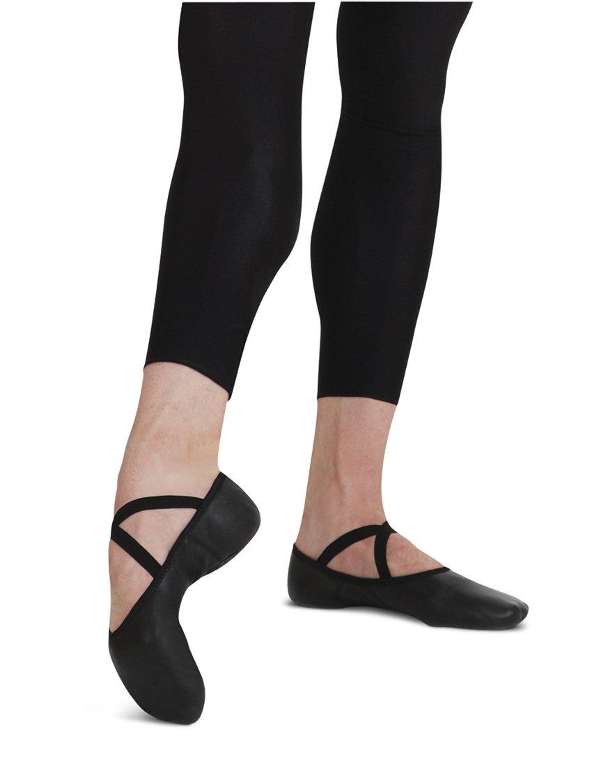 Capezio Men's Leather Romeo Ballet Shoe,Black,11 W US by Capezio