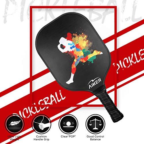 Boealzhl Pickleball Paddle - Graphite Pickleball Racket Honeycomb Composite Core Pickleball Paddle Set Ultra Cushion Grip Graphite Pickleball Paddles Racquet