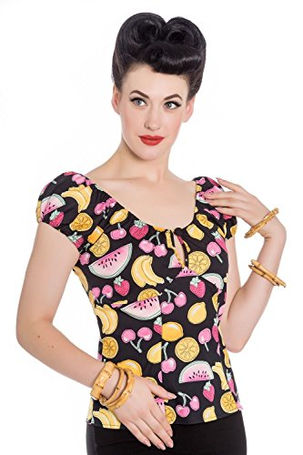 Hell-Bunny-Carmen-Fruit-Cocktail-Blouse-Gypsy-50s-Top