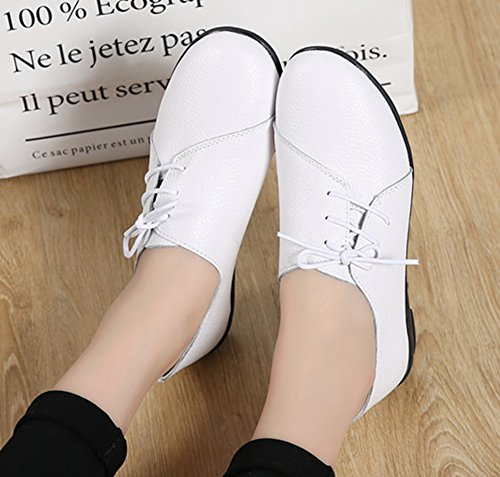 Femme Simple Aisun Couleur Basse Unie Blanc Cheville Baskets d8wnBgAx