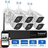 Wireless Security System, Firstrend 8CH 960P Wireless Security Camera System With 6pcs 1.3MP HD Security Camera and 1TB Hard Drive Pre-installed