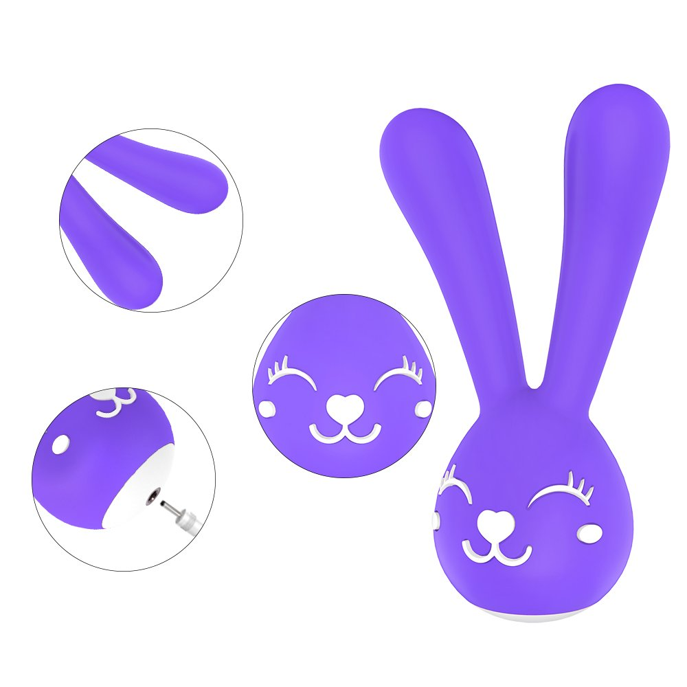 Dibei femenino - Vibrador Rabbit femenino Dibei de silicona, 6 frecuencias. Vibrador, estimulador de punto G con carga USB, impermeable 95da9b