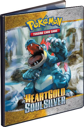 (Ultra Pro Pokemon Card Supplies 9Pocket Large Portfolio Binder Heartgold Soulsilver Feraligatr Typhlosion)