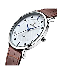 Super slim Quartz Casual Wristwatch Business Brown...