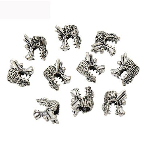Alloy Dragon Braiding DIY Accessory Dread lock Hair Beads Hair Braid Pins Rings Cuff Clips Tibetan Jewelry Decor (Alloy Lock Ring)