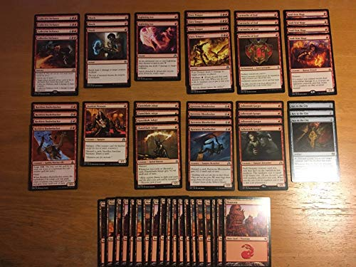 Mono Red Aggro Burn Deck - Modern Legal - Custom Built - Magic The Gathering - MTG - 60 Card