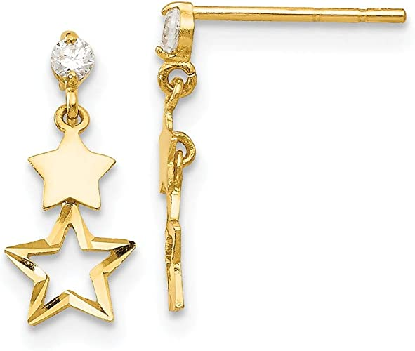 14K Yellow Gold Madi K Childrens 5 MM Round Opal 5 MM Post Stud Earrings