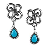 Carolyn Pollack Sterling Silver & Sleeping Beauty Turquoise Drop Earrings