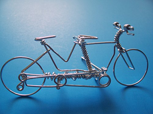 Handcrafted Tandem Bike Ornament ~Mountain Road Bicycle B...