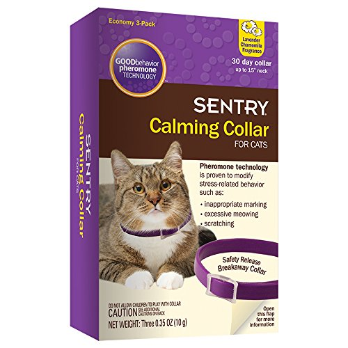 SENTRY Calming Collar for Cats  3 Pack