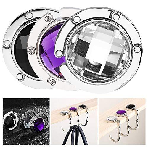 Portable Crystal Alloy Purse Holder Handbag Hook Foldable Hangbag Hook huiwuke