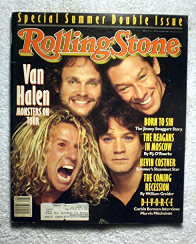 Eddie Van Halen, Sammy Hagar, Michael Anthony & Alex Van Halen - Van Halen - Rolling Stone Magazine - #530-531 - July 14 - 31, 1988 - The Jimmy Swaggart Story, The Reagans in Moscow, Kevin Costner articles ()